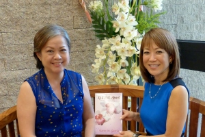 Karen with Sharlene Tsuda, VP Community Development for The Queen's Medical Center.